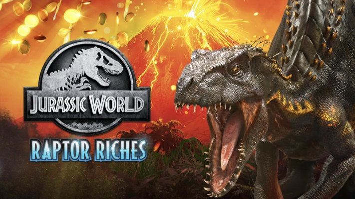 Jurassic World Raptor Riches is a 5x3, 20-payline slot including features such as a WinBooster, Multiplier Trail, Jackpot Wheel & free spins.