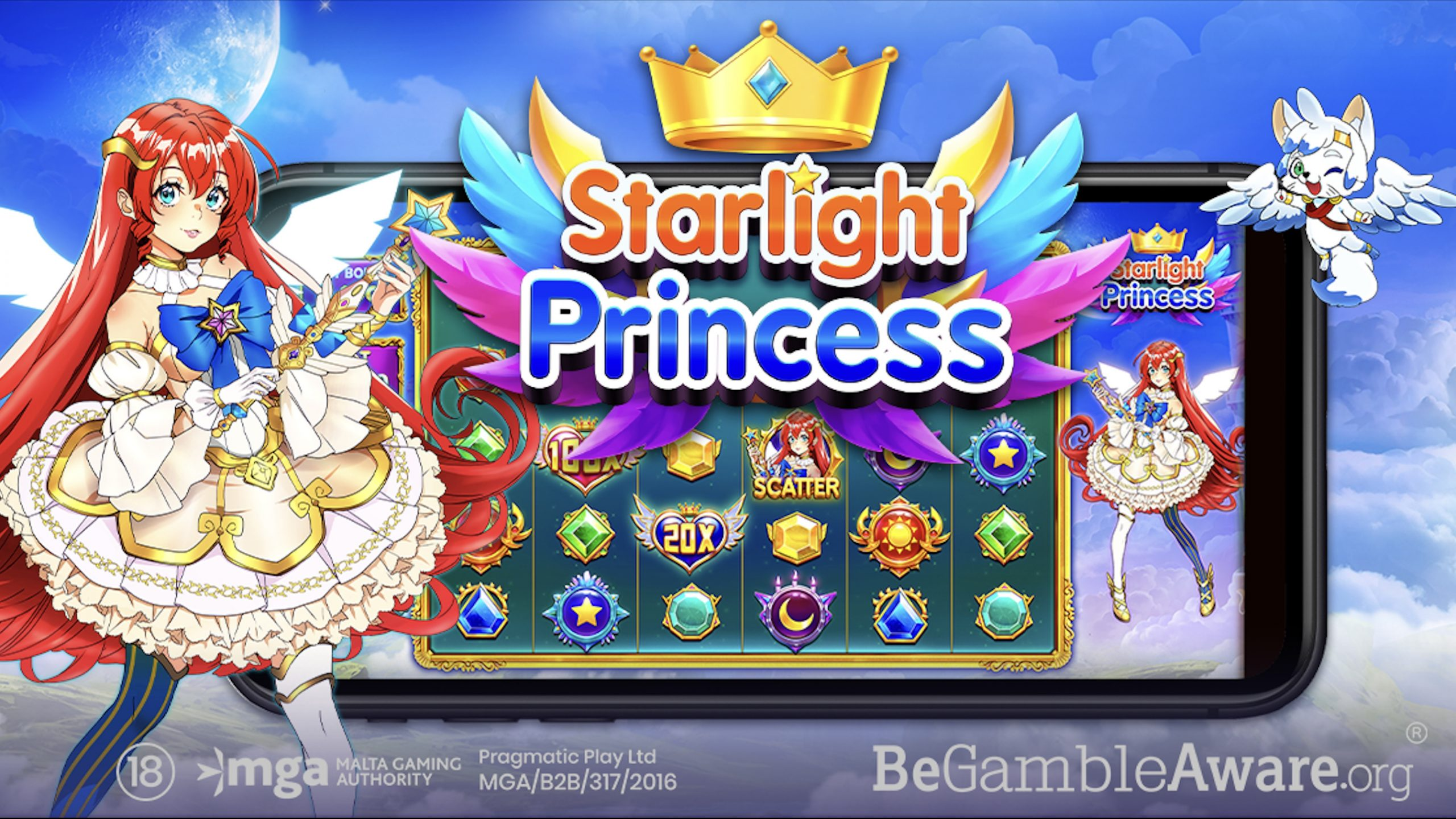 """Pragmatic Play propels itself onto a journey into the clouds in search of the """"ethereal princess"""" in its recent slot, Starlight Princess."""