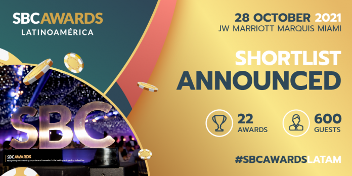 Operators Betcris, Betsson Group, Codere, and Kaizen Gaming lead the way in the race for the inaugural SBC Awards Latinoamérica.
