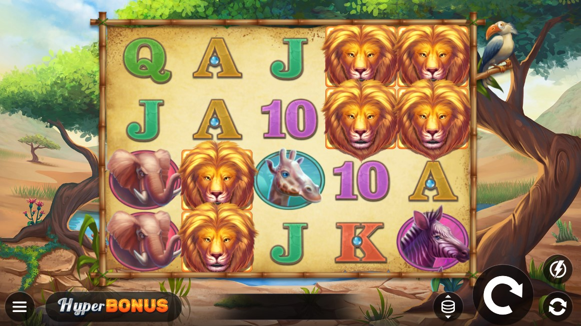 Safari Chase is a 5x4 slot title which takes players in the backdrops of the African plains and includes the HyperBonus mechanics.