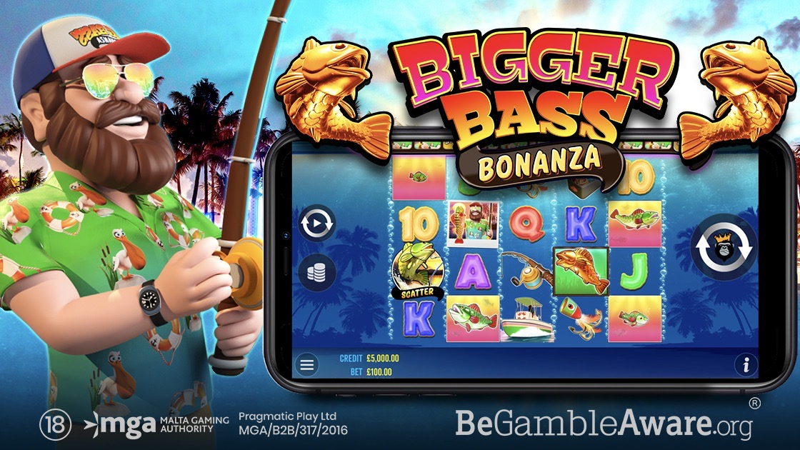 Bigger Bass Bonanza is a 5x4, 12-payline video slot including features such as scatters, wilds, free spins, money symbols and multipliers.