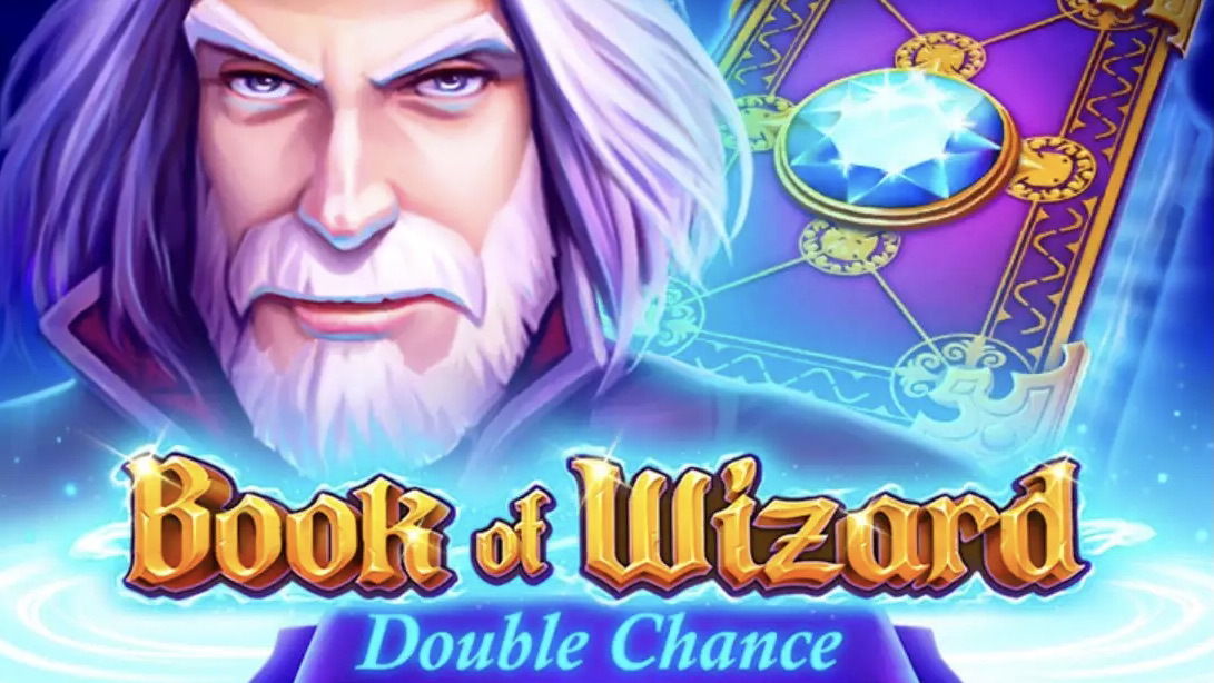 Book of Wizard Double Chance is a 5x5, 10-payline slot with features including free spins, a bonus round and special expanding symbols.