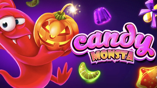 Candy Monsta is a 5x3, 20-payline video slot with features including free spins, sticky wilds, scatters and bonus symbols.