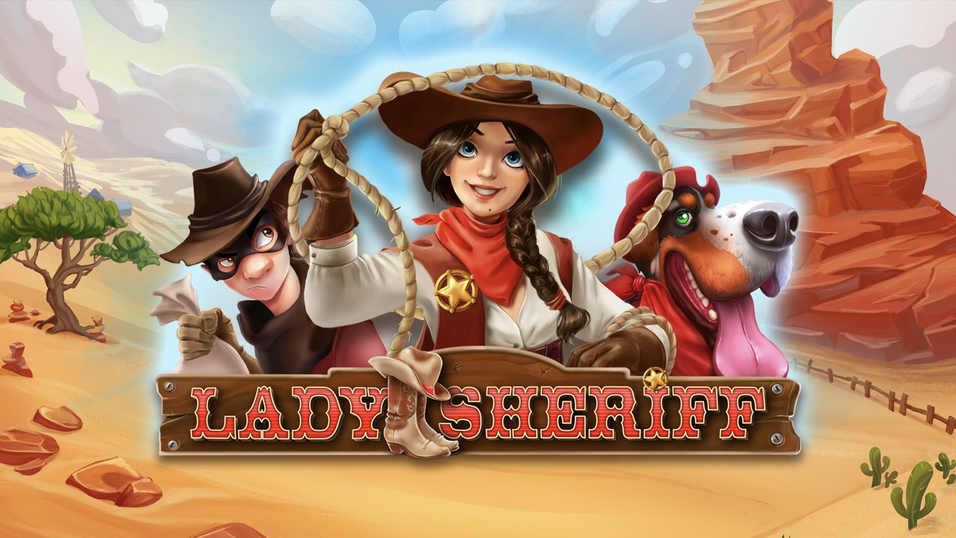 Lady Sheriff is a 5x3, 15-payline video slot including features such as expanding wilds, free spins and a bonus game.